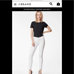 J brand white skinny jeans mint condition
